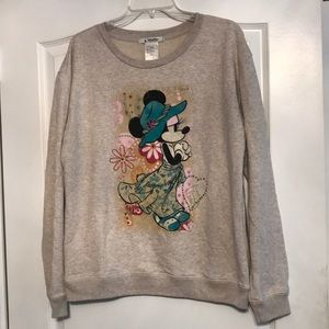 Disney Parks Minnie Mouse embellished sweatshirt L